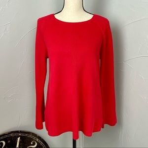 Loft Red Wide sleeve Sweater size M